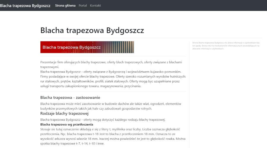Witryna – blacha trapezowa Bydgoszcz